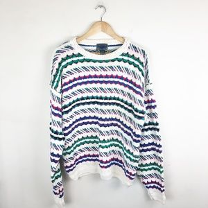 Vintage Oversized Multicolor Sweater